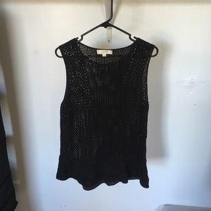 Loft women's black knitted vest. Size XL